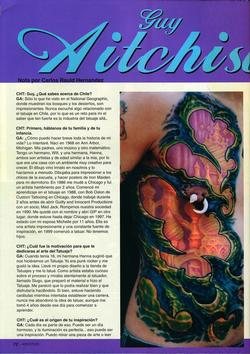Tattoos - Argentina Feature, 2005, Page 1 - 72211