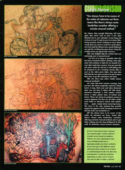 Tattoos - Laser Article, Tattoo Mag, 2006, Page 6 - 72230