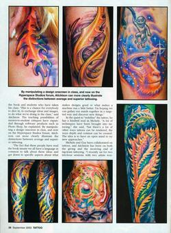 Tattoos - Aitchison/Wortman, Tattoo Magazine, 2003, Page 7 - 72159