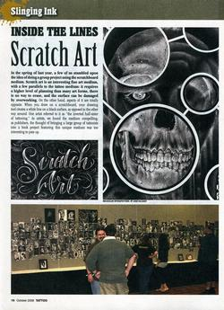 Tattoos - Scratch Art, Tattoo Mag, 2008, Page 1 - 72317