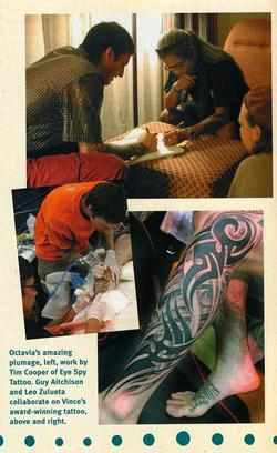 Tattoos - Leo Zulueta and Guy Aitchison collaborate at Tattoo The Earth, 2003 - 72649