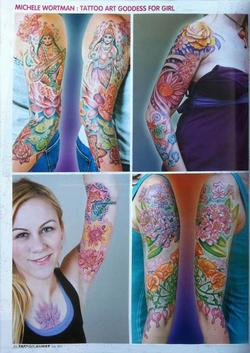 Tattoos - Wortman - Japan, Tattoo Burst Magazine, 2011, Page 4 - 72380