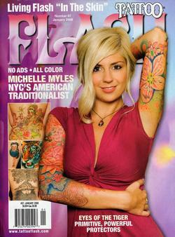 Tattoos - Wortman, Flash Mag, 2008, Cover - 72308