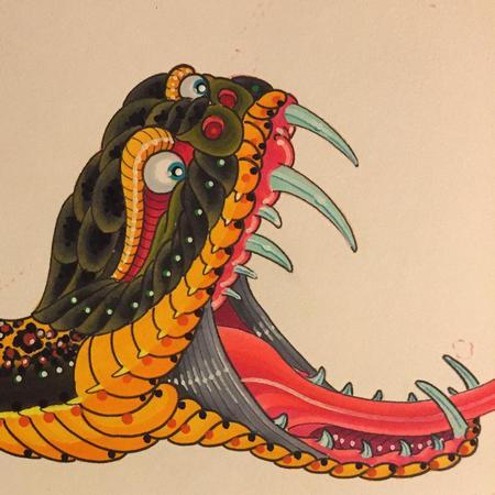 Tattoos - Snake - 108294