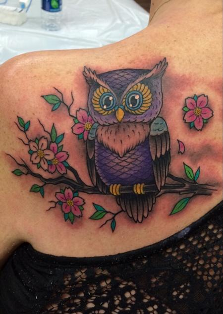 Tattoos - Owl - 108911