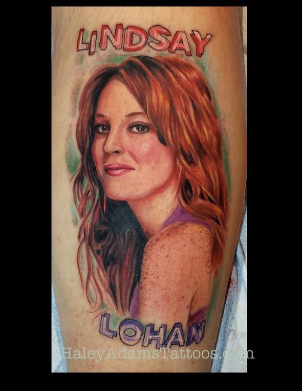 Lindsay lohan tattoo by haley adams tattoonow for Lindsay aitchison