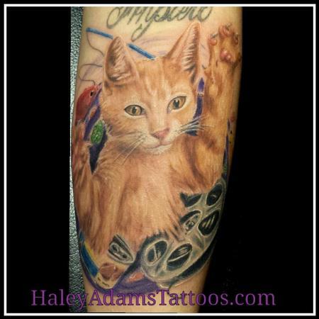 Ziggy the cat as a kitten  Tattoo Design Thumbnail