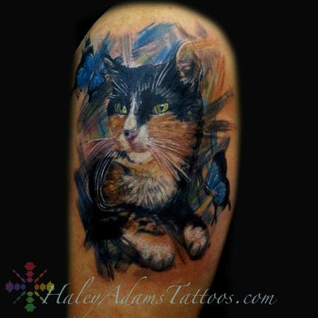 Princess the cat tattoo.. cattoo oil painting  Tattoo Design Thumbnail