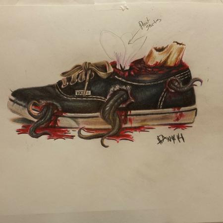 Tattoos - VANS shoe dead skworl - 96175