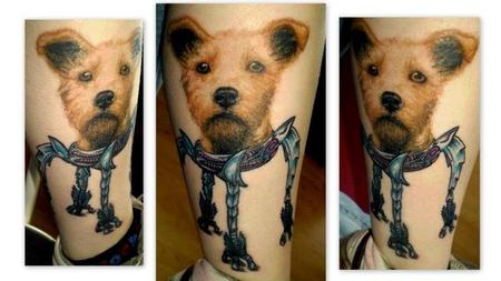 Tattoos - Dog Portrait Tattoo - 69752