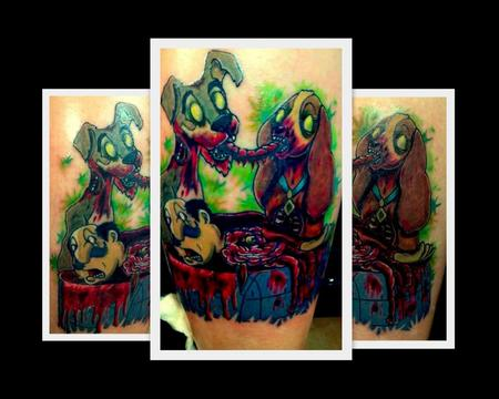 Tattoos - zombie lady and the tramp - 70938