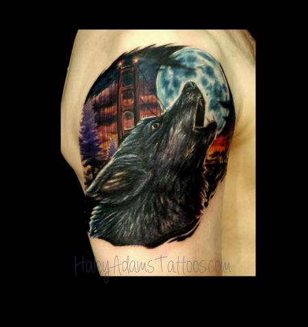 Tattoos - ware wolf tattoo - 93228