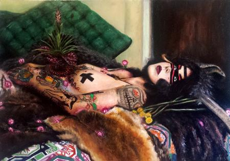 Tattoos - oil painting by haley adams - 116056