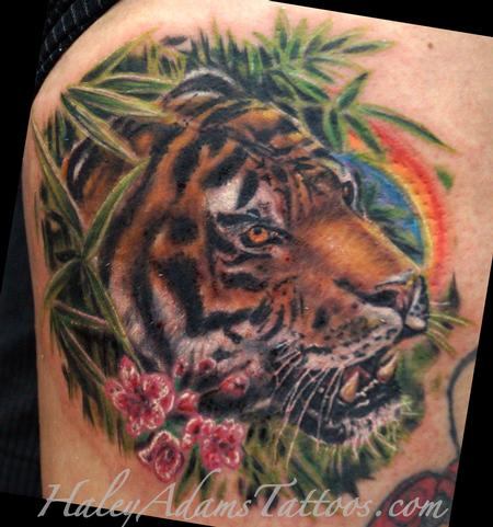 tiger realistic tattoo Tattoo Design Thumbnail