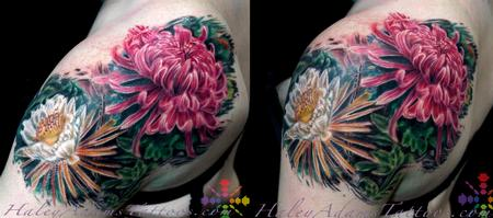 flowers on shoulder and upper arm Design Thumbnail