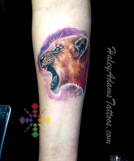 Tattoos - lioness tattoo - 114908