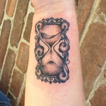 Tattoos - Ornamental Hourglass  - 102262