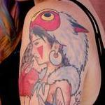 Princess Mononoke  Tattoo Design Thumbnail