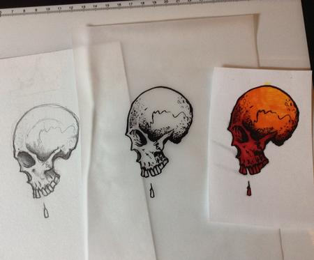 Tattoos - Skull Tattoo Design - 123172