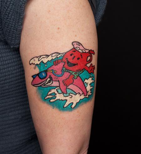 Tattoos - Sharkleberry Fin Kool Aid Tattoo - 126766