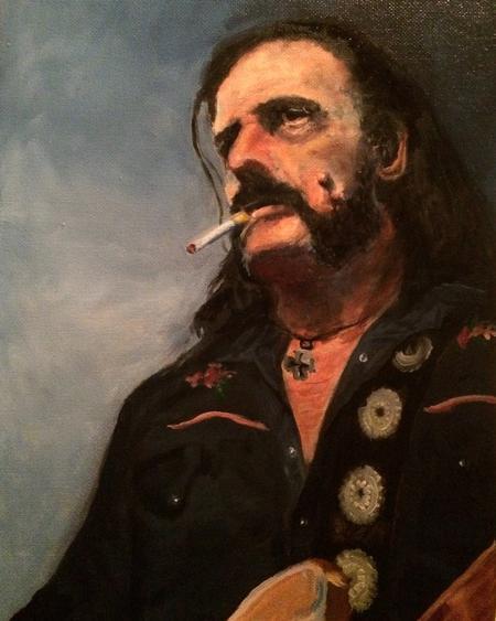 Tattoos - Lemmy from Motorhead oil painting work in progress - 112283