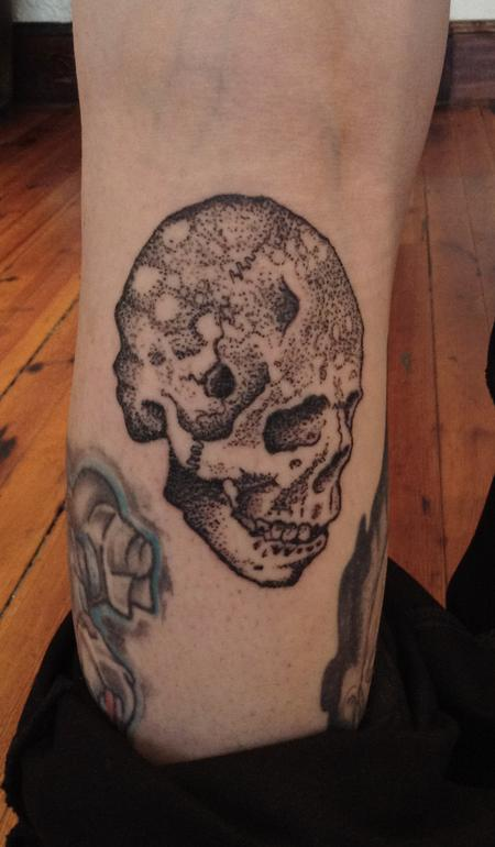 Tattoos - Grungy Skull Tattoo - 122949