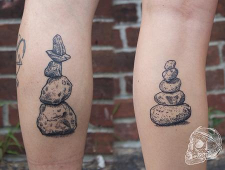 Healed black stipple cairn tattoo Design Thumbnail