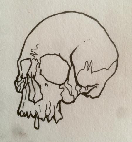 Tattoos - Skull line drawing - 115759