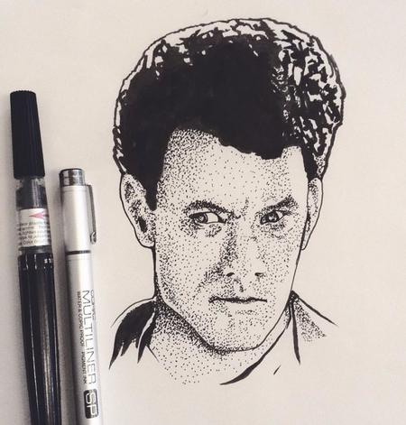 Tattoos - Stippled portrait of Tom Hanks - 126963