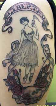 Liberated ballerina by alana lawton tattoonow for Tattoo shops in hartford ct