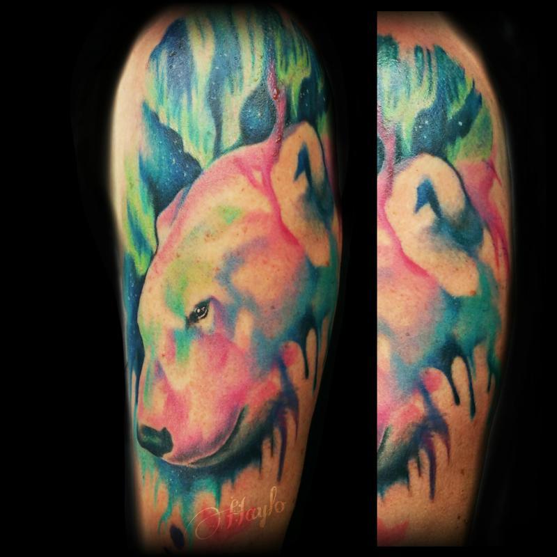 Lucky Bamboo Tattoo : Tattoos : Haylo : Watercolor Polar Bear Watercolor Bear Tattoo