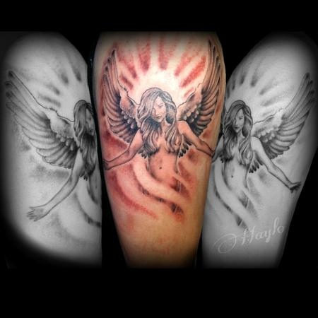 Tattoos - Angel Realism design - 100228