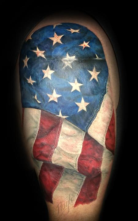 Tattoos - American flag