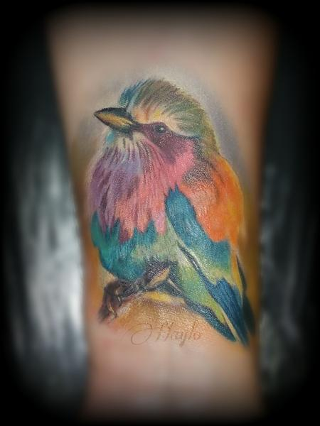 Bird wrist cover up Tattoo Design Thumbnail