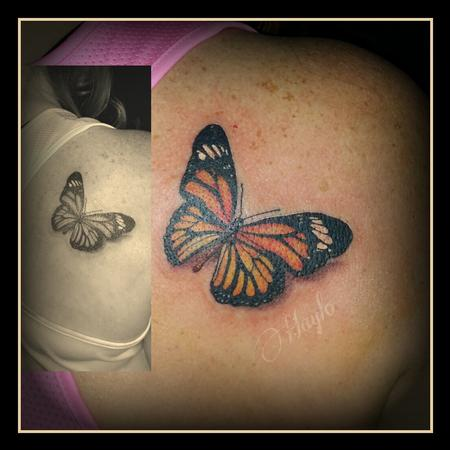 Tattoos - Realistic Butterfly Tattoo - 99416