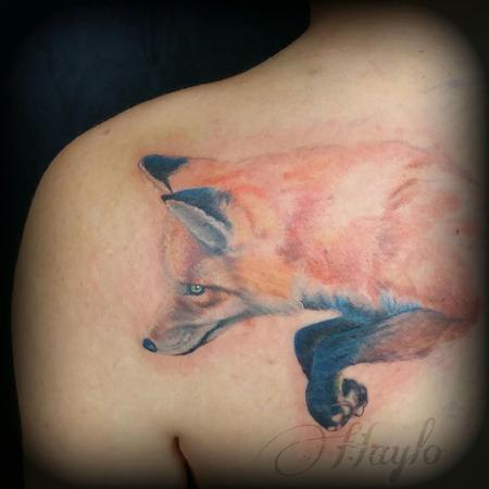 Tattoos - Progression of a realistic style fox tattoo - 104408