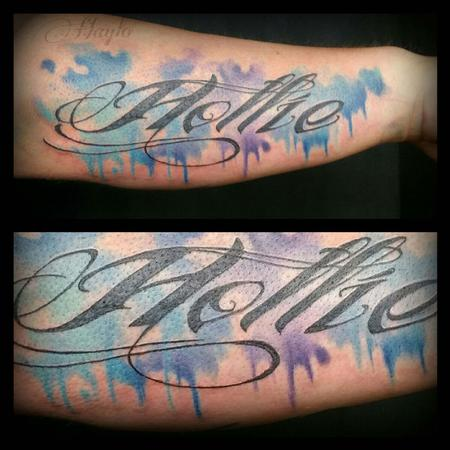 Custom Watercolor style piece with script Design Thumbnail