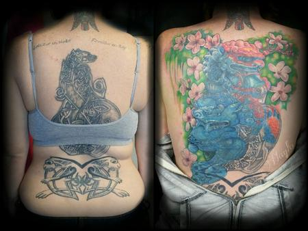 Tattoos - Back Piece Cover Up - 109131
