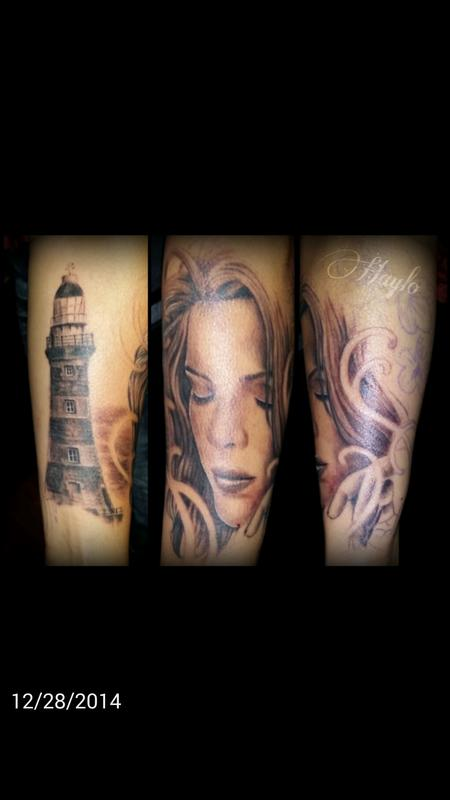 Tattoos - Girl with lighthouse - 99413