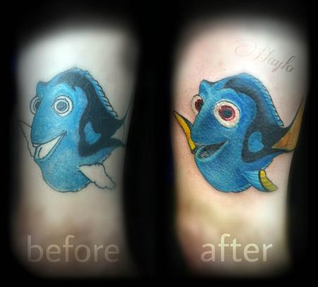 Haylo - A feehand rework of a Dori tattoo