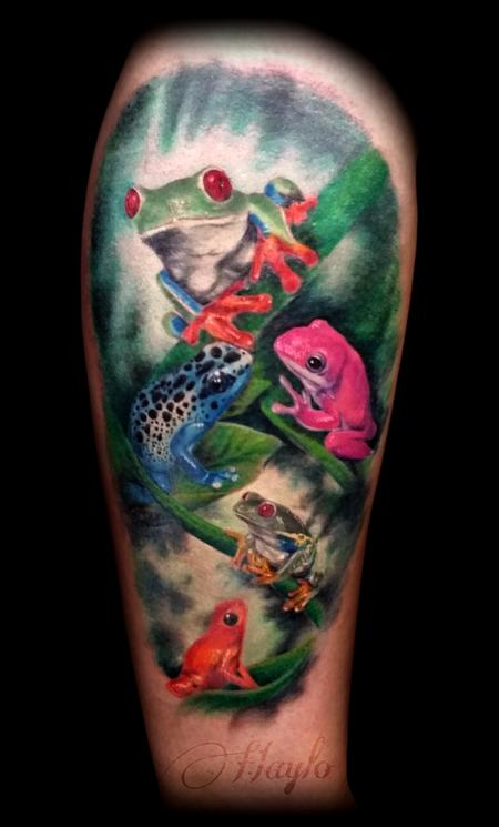 Tattoos - Custom Tree Frog Leg Tattoo - 125250