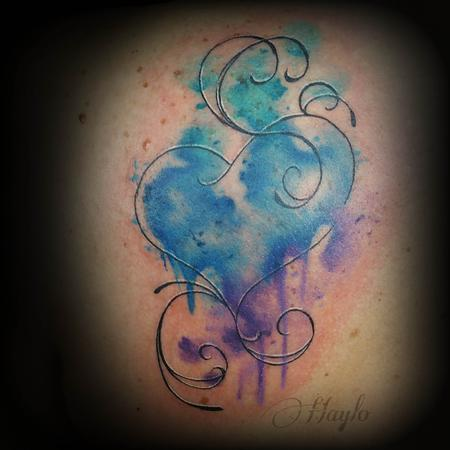 Haylo - Custom watercolor style heart
