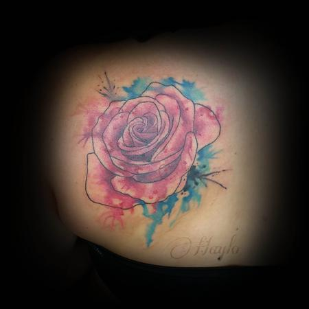 Tattoos - Custom watercolor style rose - 111917