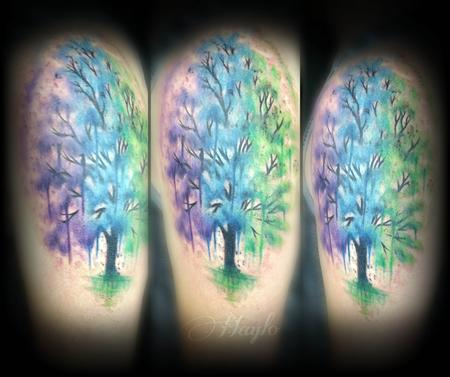 Haylo - Custom watercolor style tree