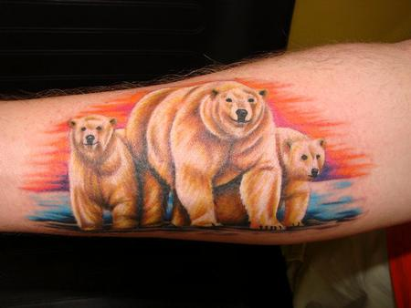 Scott Richardson - Realistic Polar Bear Tattoo