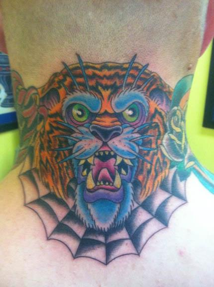 Scott Richardson - Traditional Tiger Tattoo