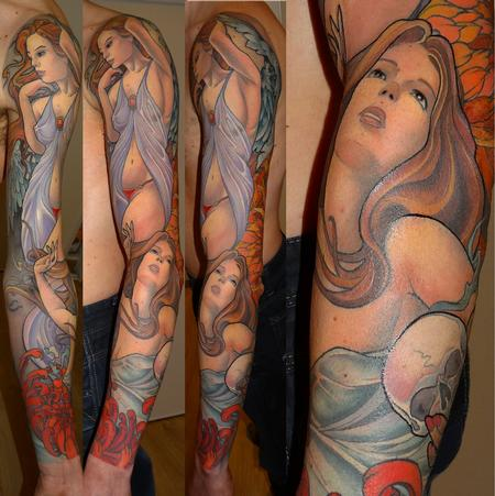 women color sleeve Tattoo Design Thumbnail