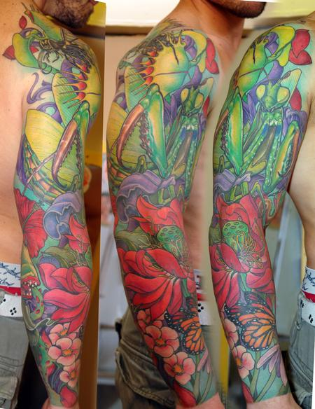 Tattoos - VEGETAL FULL COLOR SLEEVE  - 82432