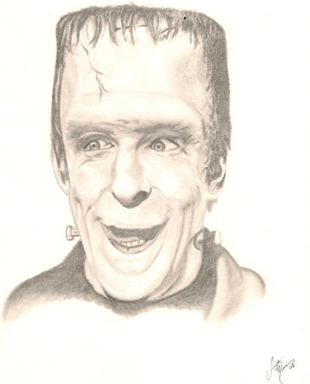 Tattoos - Herman Munster. Pencil on paper - 69590
