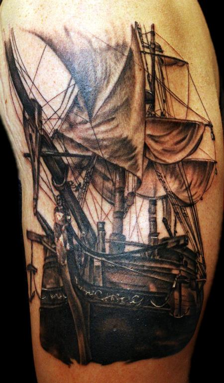 Tattoos - Pirate Ship - 69583